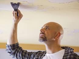 how do i fix my flaking ceiling