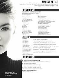 makeup artist resume template gfyork artist resume template makeup artist resume sle