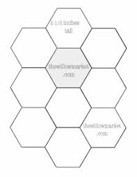 Hexagon Templates for Sewing a Hexie Quilt – 2 Inch, 2 1/2 Inch ... & Click here for a template with three inch hexies. Adamdwight.com