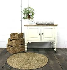 round seagrass rug round rugs plus small cabinets and wicker box for home decoration ideas seagrass