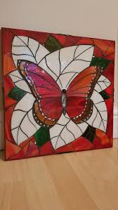 erfly stained glass mosaic wall