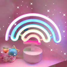 Decora Led Night Light Us 9 45 30 Off Cute Night Light Rainbow Neon Sign 3 Aa Battery For Home Decora Led Neon Lamps For Girls Child Baby Bedroom Lamp Dropshipping In Led
