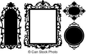 black antique picture frames. Vector - Vintage Frame Made In Black Antique Picture Frames L