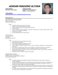Format For A Resume Example Examples Sample Throughout 19