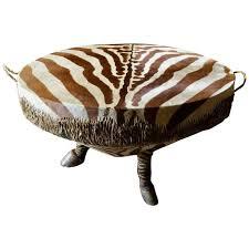 african zebra drum coffee table very large hoof legs taxidermy for