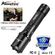 Alonefire TK700 CREE LED Đèn Pin Cảnh Sát An Ninh Và Tự Vệ Siêu Sáng Đèn Pin  Sạc USB Chiến Thuật Tuần Tra Ánh Sáng rechargeable police flashlight police  flashlightcree led flashlight - AliExpress