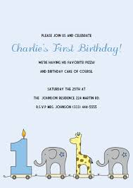 Printable 1st Birthday Invitations Elephant And Giraffe