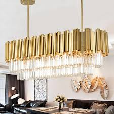rectangular crystal pendant lamp chinese living room bedroom lamp simple modern restaurant bar creative personality pendant light hanging lights that plug