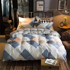 brief style stripe diamond blue white yellow bedding sets soft duvet cover bed sheet pillowcase boy gift home textie queen comforter set polka dot