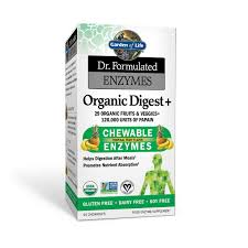 garden of life dr formulated organic digest 90 chewable tablets