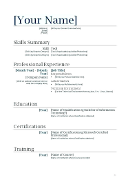 Free Download Resume Templates For Microsoft Word 2010 Ms Word Resume Template 2010 Timetoreflect Co