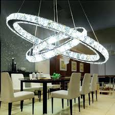 halo chandelier crystal angel ring led modern minimalist living room