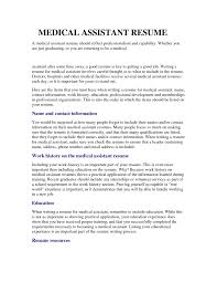 Medical Assistant Resume Sample Experience Resumes