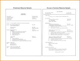 Sample Resume Of College Freshmen Sample Resumes Career Services