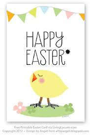 free printable easter card living locurto