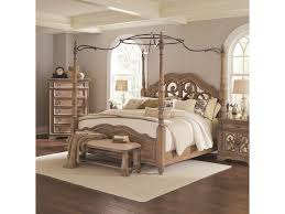 Coaster Ilana 205071Q Queen Canopy Bed with Mirror Back Headboard ...