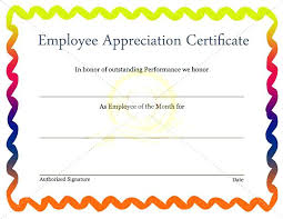 Employee Of The Quarter Certificate Employee Recognition Program Template Marvie Co