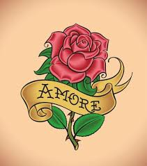 rose and ribbon tattoo designs. Red Rose With Scroll Ribbon Tattoo Design For And Designs