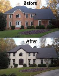 excellent best exterior decoration with white house with grey trim how to build white house with with red brick houses images