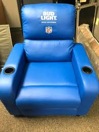 bud light recliner chair leather with cooler