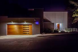 garage door lightsfauxwoodgaragedoorsExteriorContemporarywithBridgeentry