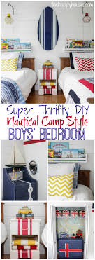 boys bedroom. Pin It To Remember This Adorable Boys Bedroom Reveal Is Full Of Thrifty DIY Ideas For Creating A Nautical Camp H