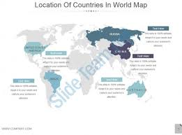 Map Of The World For Powerpoint Location Of Countries In World Map Powerpoint Slides Ppt Images