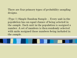 Types Of Probability There Are Four Primary Types Of Probability Sampling Designs