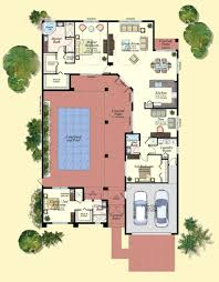 u shaped house design plans with courtyard me striking home