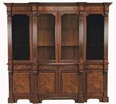 large china cabinet. Perfect Large Large Mahogany Burled Breakfront China Cabinet Inside E