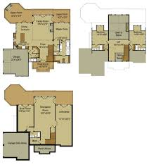 Rustic Mountain House Floor Plan   Walkout Basementmountain floor plan   loft and walkout basement