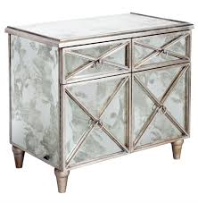 hollywood regency mirrored furniture. Ritz Hollywood Regency Antique Mirror Silver Crosshatch Bar Cabinet   Kathy Kuo Home Mirrored Furniture
