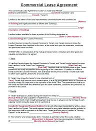 Standard Commercial Lease Agreement Commercial Lease Agreement Sample 8 Property Free Template Uk