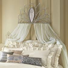 Bed Crown with Tie-Backs from Midnight Velvet. A shapely mirror and ...