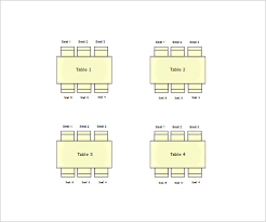 11 Table Seating Chart Templates Doc Pdf Excel Free
