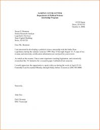 Example Of Cover Letter For Internship