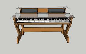 diy studio desk keyboard workstation under 0 studio desk keyboard workstation