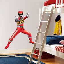 Power Rangers Bedroom Decor Details About Power Rangers Dino Charge Red Decal Removable