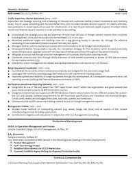 Resume Samples For Supply Chain Management Study Logistics Account