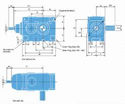 Transmission Size Chart Dimensional Chart Double Reduction Bevel Helical Gearboxes
