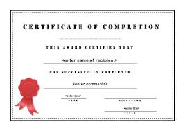 Microsoft Word Certificate Templates certificate of attendance template word certificate of completion 98
