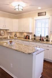 White Kitchen Cabinets With Granite Countertops Countertop Tops