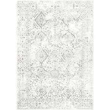 ivory area rugs compressed gray vintage rug 8 ft x distressed the home depot dark grey