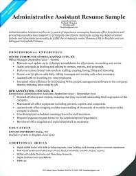 Executive Assistant Resume Templates Adorable Executive Assistant Resume Template Sample For An Office