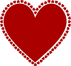 clipart frame of hearts stock