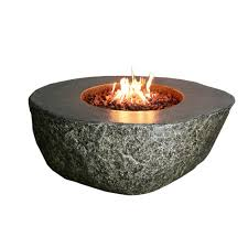 round ecostone propane fire pit in natural brown propane fire pit p31
