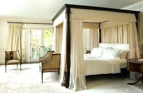 Twin Size Canopy Bed Image 1 Twin Size Canopy Bed Curtains ...