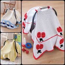 basic car seat tent with free pattern crochet baby car seat cover
