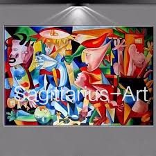 100 hand painted textur oil painting on canvas famous artist picasso abstract painting guernica art picture decoration painting