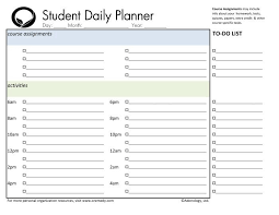 Student Daily Planner Day Planner Printable Student Weekly Planner Download Student